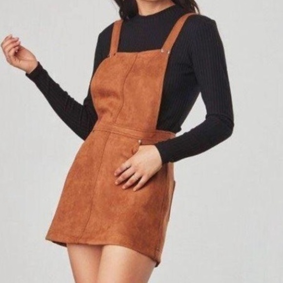 Jack by BB Dakota Dresses & Skirts - JACK by BB DAKOTA Faux Suede Pinafore wPOCKETS - L